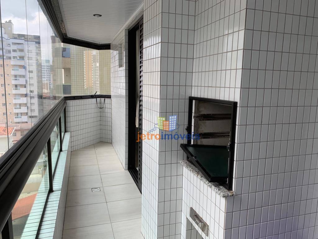 Apartamento com 2 dormitórios para alugar, 90 m² por R$ 2.300/mês - Canto do Forte - Praia Grande/SP