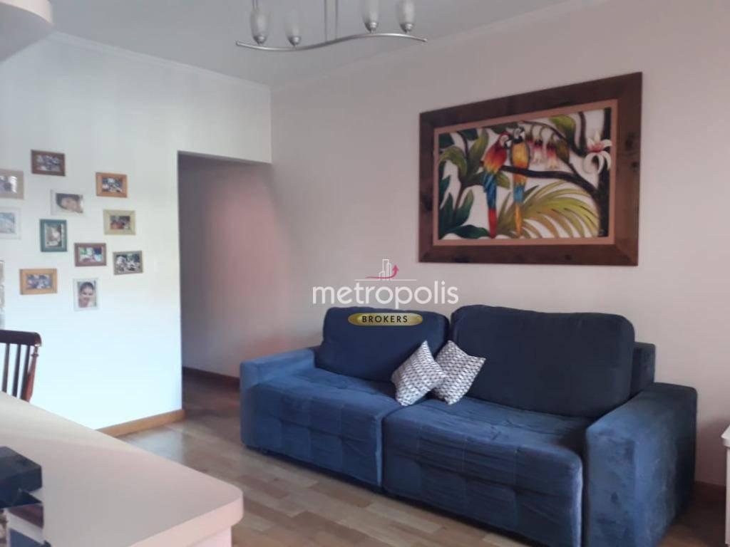 Sobrado com 3 dormitórios à venda, 102 m² por R$ 640.000,00 - Fundação - São Caetano do Sul/SP
