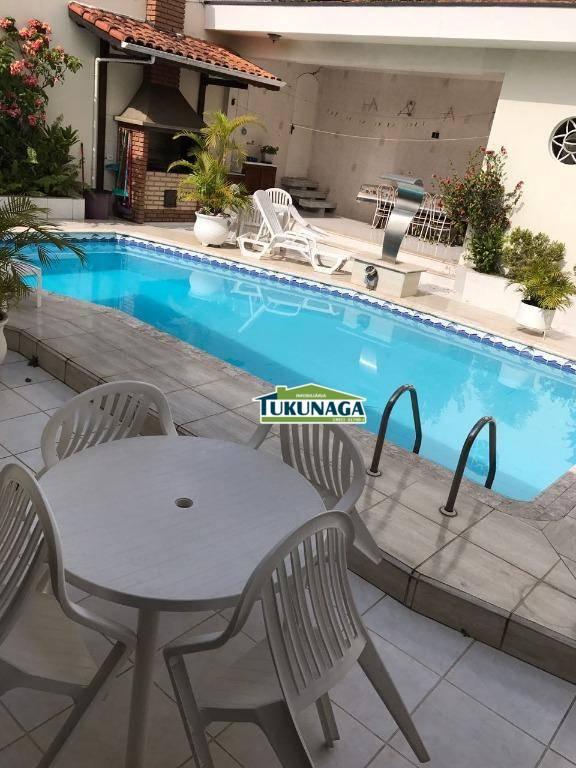 Casa com 4 dormitórios para alugar, 374 m² por R$ 5.000,00/mês - Vila Rosália - Guarulhos/SP