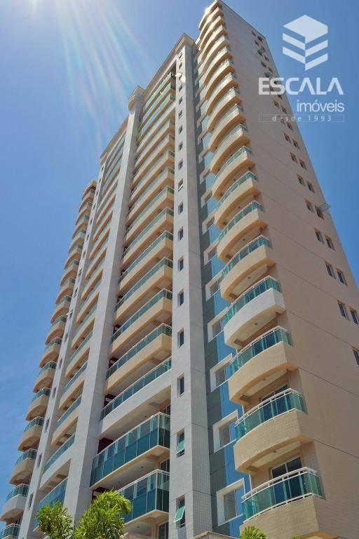 Apartamento com 3 quartos à venda, 117 m², novo, área de lazer, financia - Luciano Cavalcante