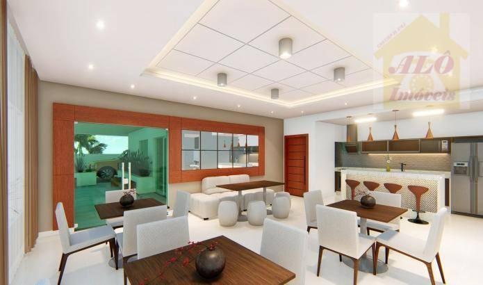 Apartamento à venda, 73 m² por R$ 365.400,00 - Vila Atlântica - Mongaguá/SP