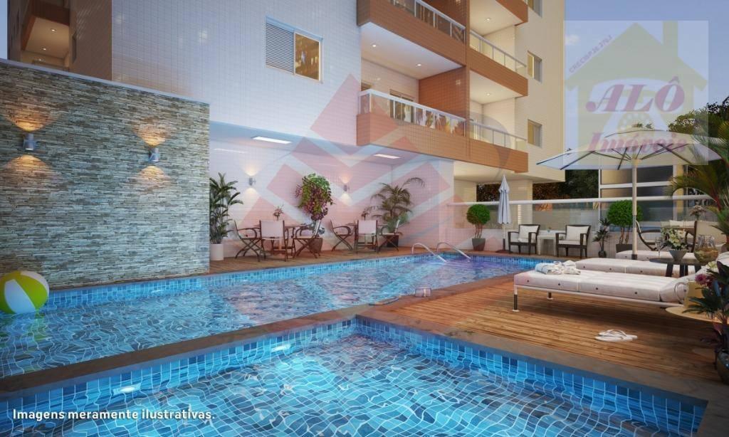 Apartamento à venda, 58 m² por R$ 265.921,00 - Vila Guilhermina - Praia Grande/SP