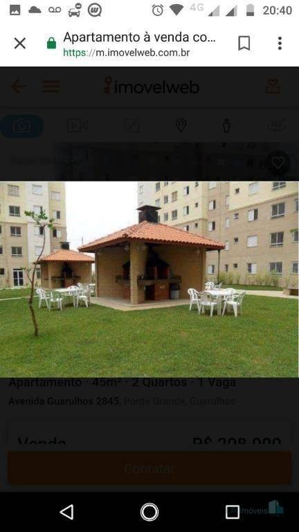 Apartamento à venda, 48 m² por R$ 192.000,00 - Vila Venditti - Guarulhos/SP
