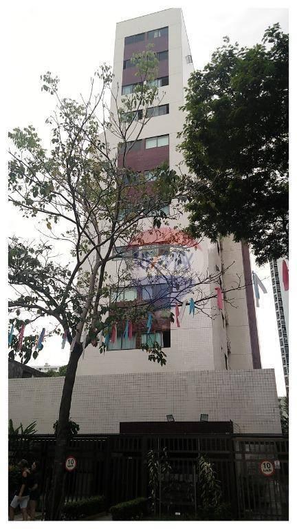 Flat com 1 dormitório à venda, 45 m² por R$ 285.000,00 - Espinheiro - Recife/PE