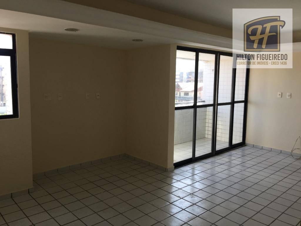 Apartamento com 3 dormitórios para alugar, 110 m² por R$ 1.900/mês - Bessa - João Pessoa/PB