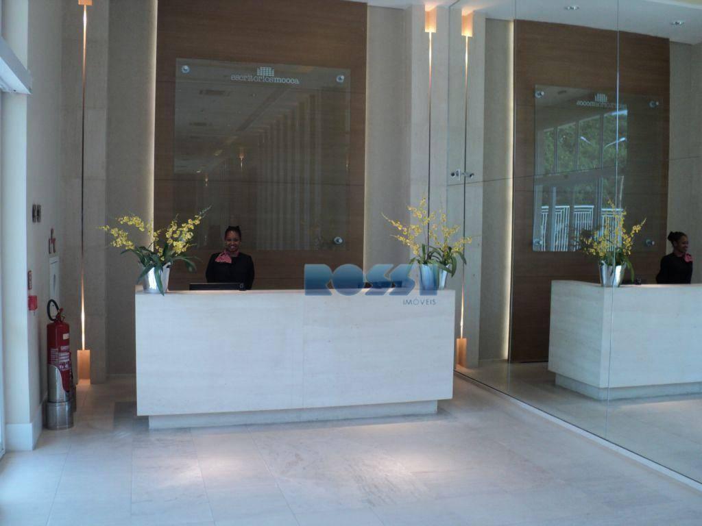 ótima sala comercial.copa e wc.ar condicionado, sanca e luminárias.