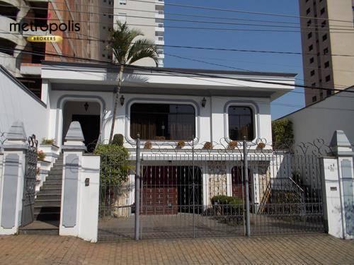 Casa com 3 dormitórios à venda, 390 m² por R$ 2.500.000 - Santa Paula - São Caetano do Sul/SP