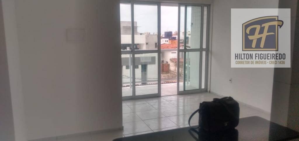 Apartamento com 2 dormitórios para alugar, 50 m² por R$ 1.200/mês - Bessa - João Pessoa/PB