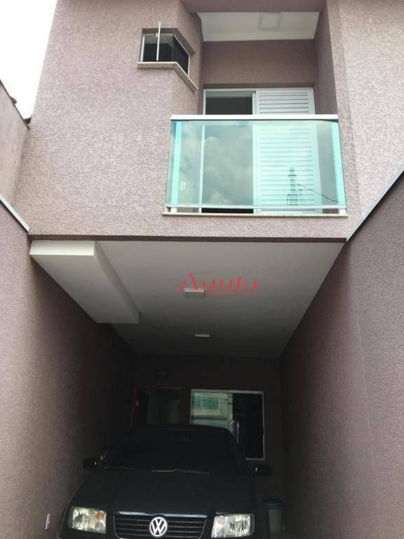 Sobrado com 2 dormitórios à venda, 100 m² por R$ 379.000 - Parque Novo Oratório - Santo André/SP