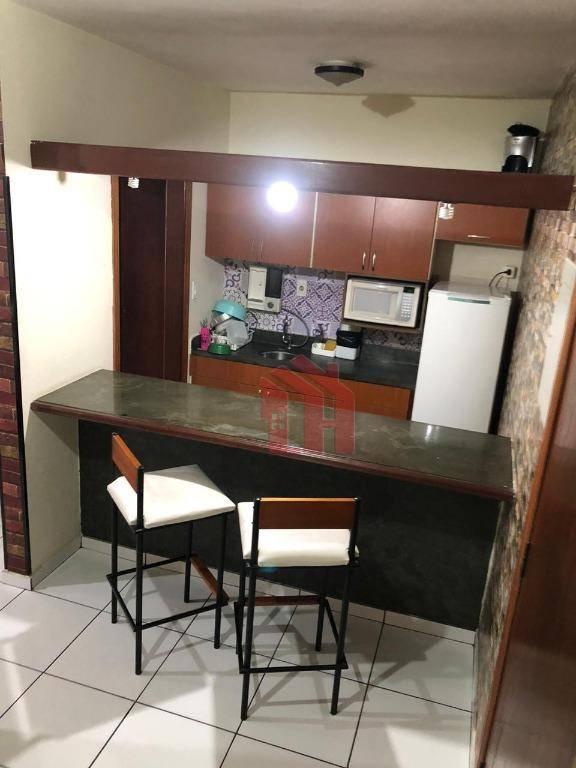 Flat com38m2, 1 dormitório, 1 vaga, São Vicente