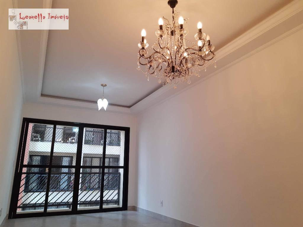 Apartamento com 2 dormitórios para alugar, 75 m², 2 vagas e reformado!!! Jardim Bela Vista - Santo André/SP