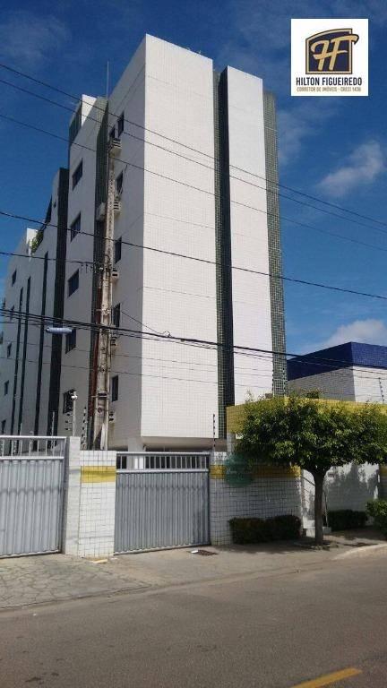 Apartamento com 2 dormitórios para alugar, 58 m² por R$ 1.400,00/mês - Bessa - João Pessoa/PB