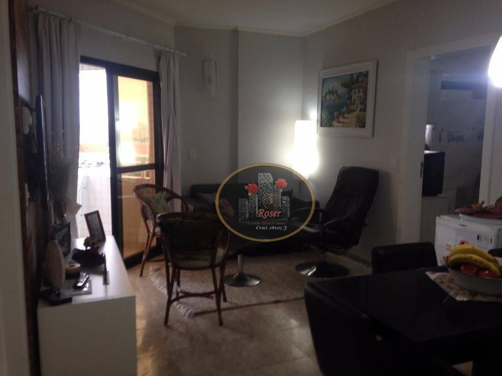 Flat com 2 dormitórios à venda, 62 m² por R$ 540.000,00 - Boqueirão - Santos/SP