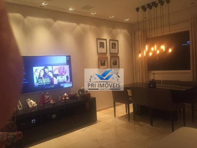 Flat com 2 dormitórios à venda, 69 m² por R$ 480.000 - Gonzaga - Santos/SP