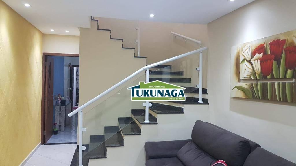Sobrado com 3 dormitórios à venda, 142 m² por R$ 630.000,00 - Vila Silveira - Guarulhos/SP