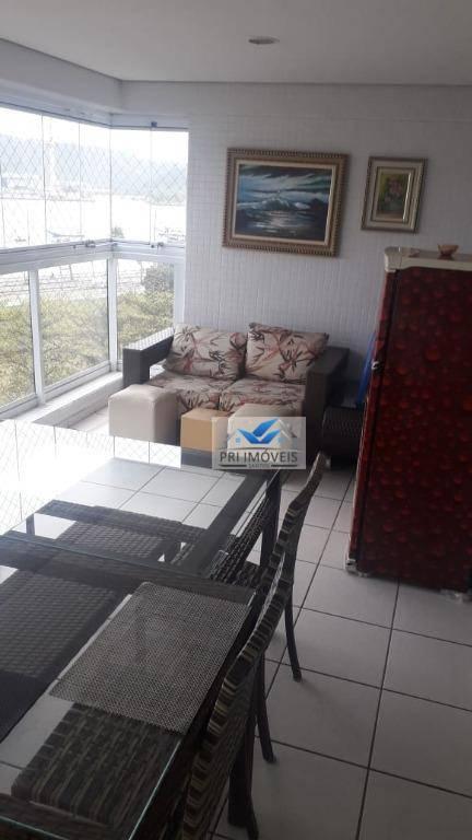 Apartamento para alugar, 132 m² por R$ 3.800,00/mês - Ponta da Praia - Santos/SP