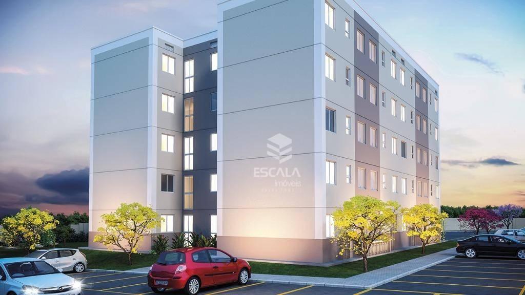 Apartamento com 2 quartos à venda, 49 m², lazer, 1 vaga, financia - Maraponga - Fortaleza/CE
