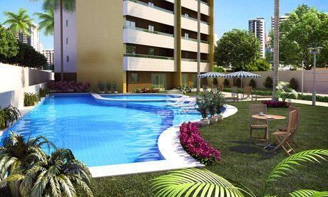 Apartamento com 3 quartos à venda, 70 m², 2 vagas, área de lazer, financia - Cambeba - Fortaleza/CE