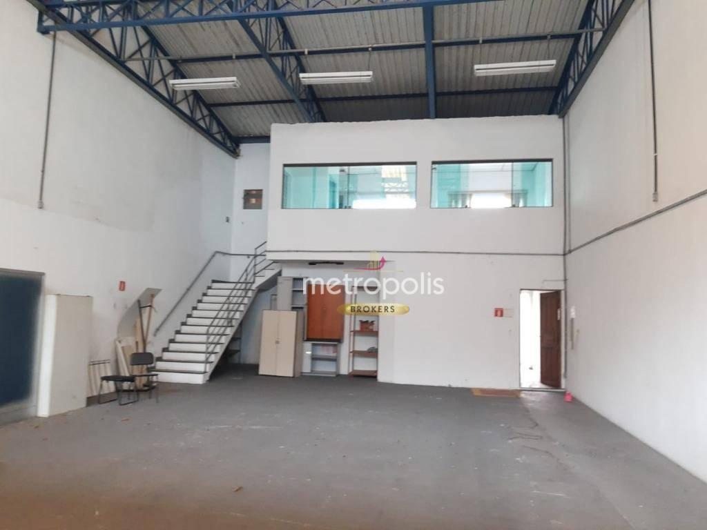 Galpão para alugar, 323 m² por R$ 8.000,00/mês - Cerâmica - São Caetano do Sul/SP