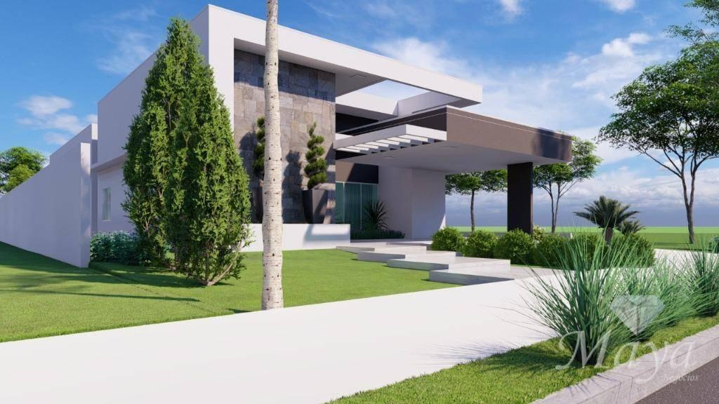 Casa 4 Quartos, sendo 3 Suítes c/ closet, 281 m² c/ lazer no Cond. Polinésia