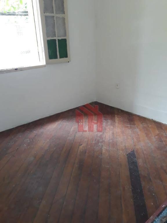 Casa com 3 dormitórios para alugar, 1 m² por R$ 1.600,00/mês - Vila Matias - Santos/SP