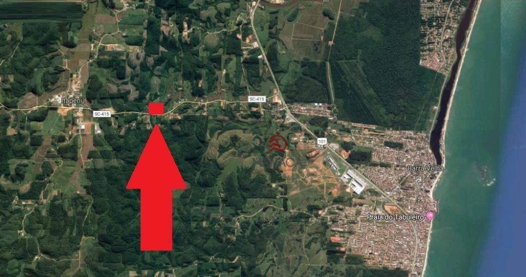 Terreno à venda, 1560 m² por R$ 180.000 - Centro - São João do Itaperiú/SC