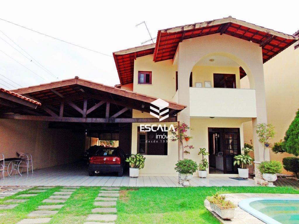 Casa duplex  com 3 quartos à venda, 327m2, piscina, 8 vagas, financia -  Lago Jacarey - Fortaleza/Ce
