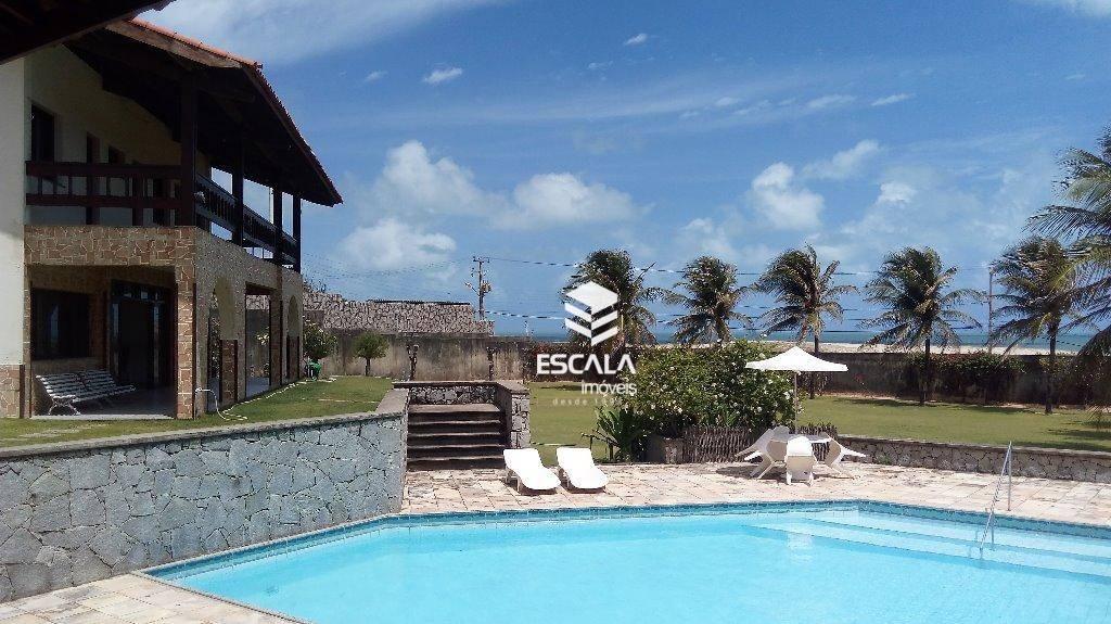 Casa duplex com 5 quartos à venda, 300 m², 7 vagas, piscina, terreno grande - Praia Do Japão - Aquiraz/CE