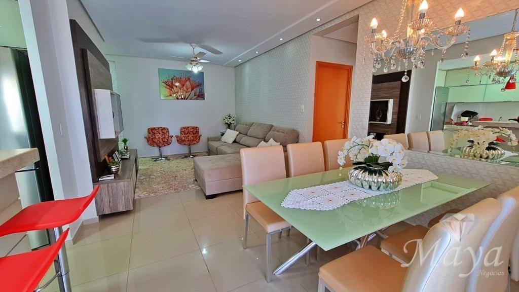 Apartamento 3 Quartos, 93 m² c/ armários à venda na 205 Sul - Bela Vista Residence