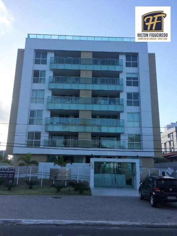 Apartamento com 2 dormitórios para alugar, 67 m² por R$ 2.500,00/mês - Bessa - João Pessoa/PB