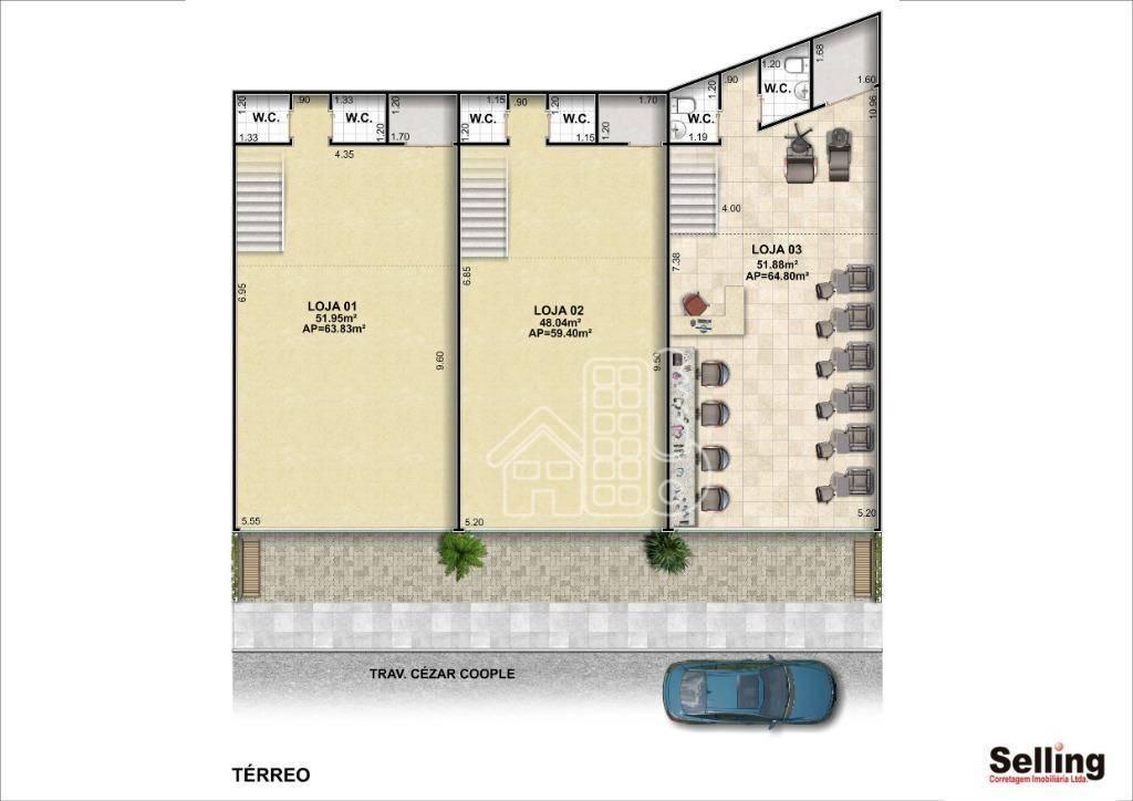 Loja para alugar, 18 m² por R$ 6.000/mês - Icaraí - Niterói/RJ