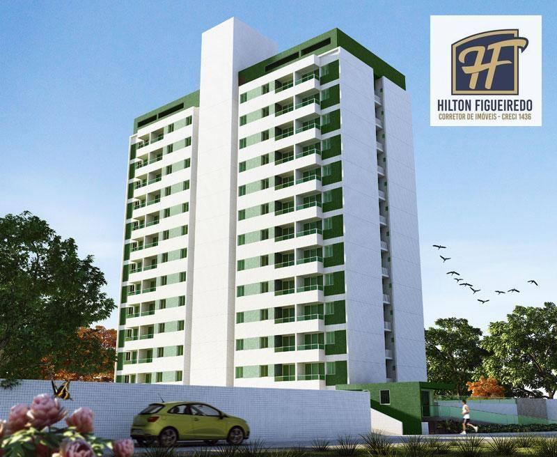 Apartamento com 1 dormitório à venda, 40 m² por R$ 160.000 - Castelo Branco - João Pessoa/PB