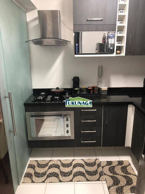 Apartamento com 2 dormitórios para alugar, 59 m² por R$ 1.703/mês - Jardim Flor da Montanha - Guarulhos/SP