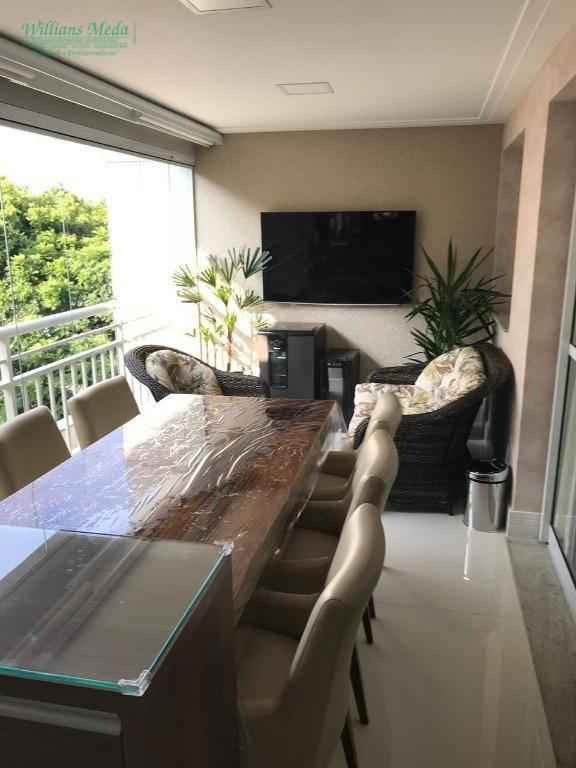 Apartamento com 3 dormitórios para alugar, 116 m² por R$ 2.900/mês - Jardim Santa Mena - Guarulhos/SP