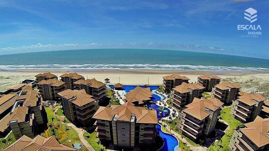 Apartamento duplex com 4 quartos à venda, 163 m², novo, área de lazer, financia - Porto das Dunas - Aquiraz/CE