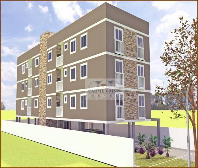 Apartamento com 2 dormitórios à venda, 49 m² por R$ 154.000 - Cruzeiro - São José dos Pinhais/PR