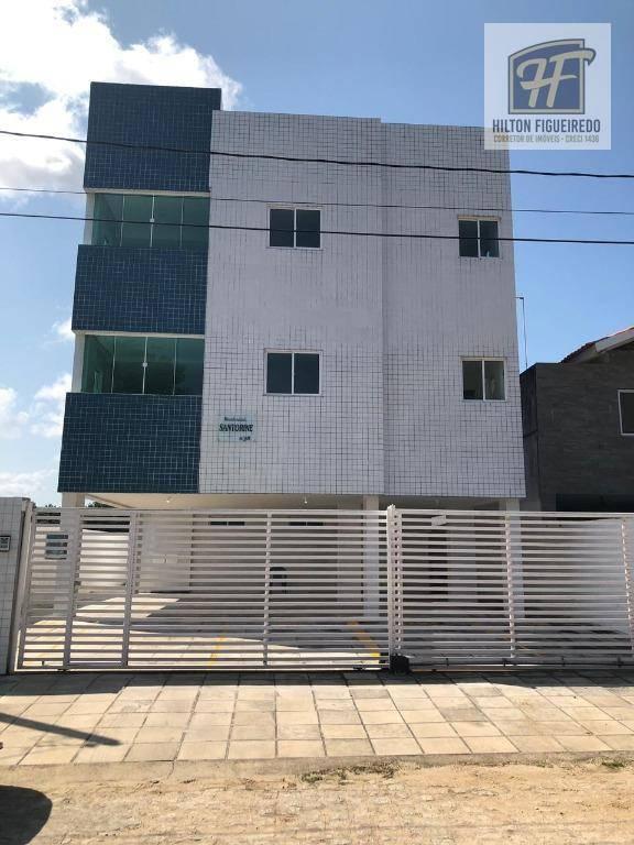Apartamento com 2 dormitórios para alugar, 65 m² por R$ 1.000/mês - Altiplano Cabo Branco - João Pessoa/PB