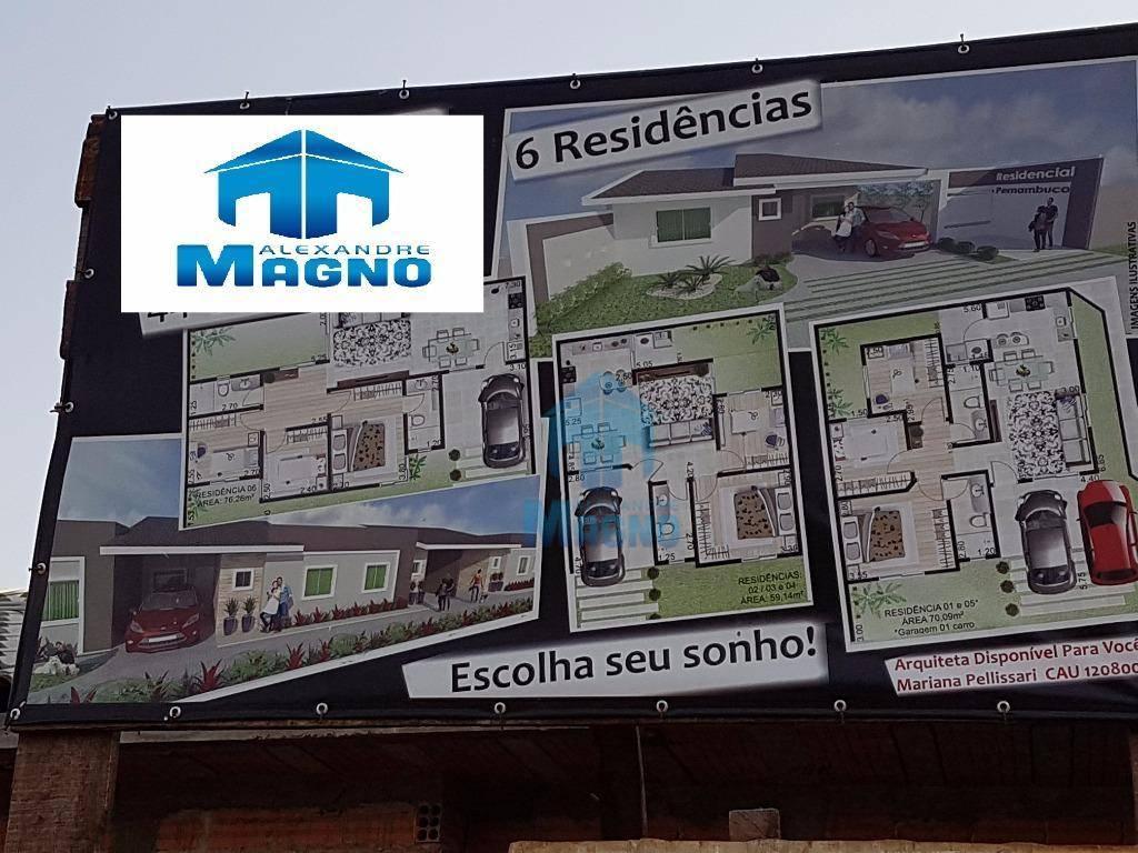 Casa residencial à venda com suíte mais dois quartos