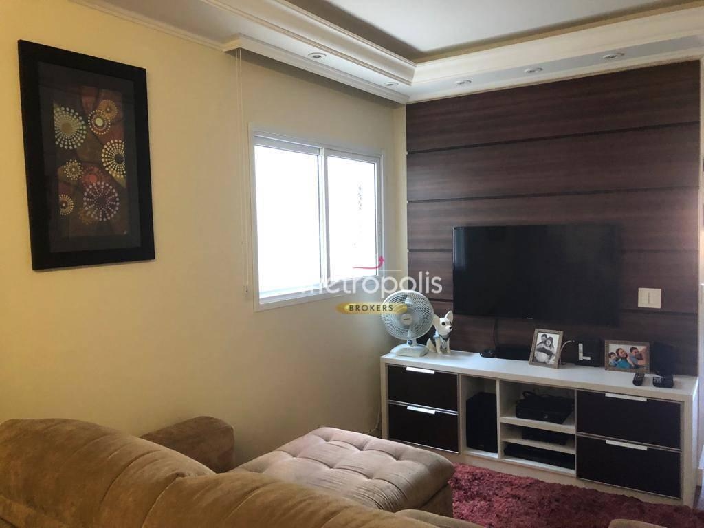 Apartamento com 2 dormitórios à venda, 66 m² por R$ 405.000 - Campestre - Santo André/SP