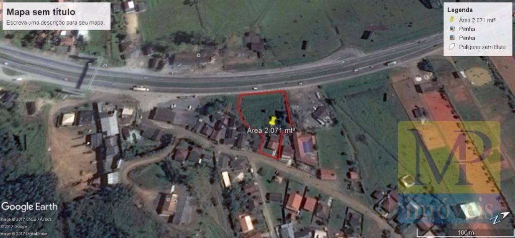 Terreno à venda, 2071 m² por R$ 550.000,00 - São Cristovão - Penha/SC