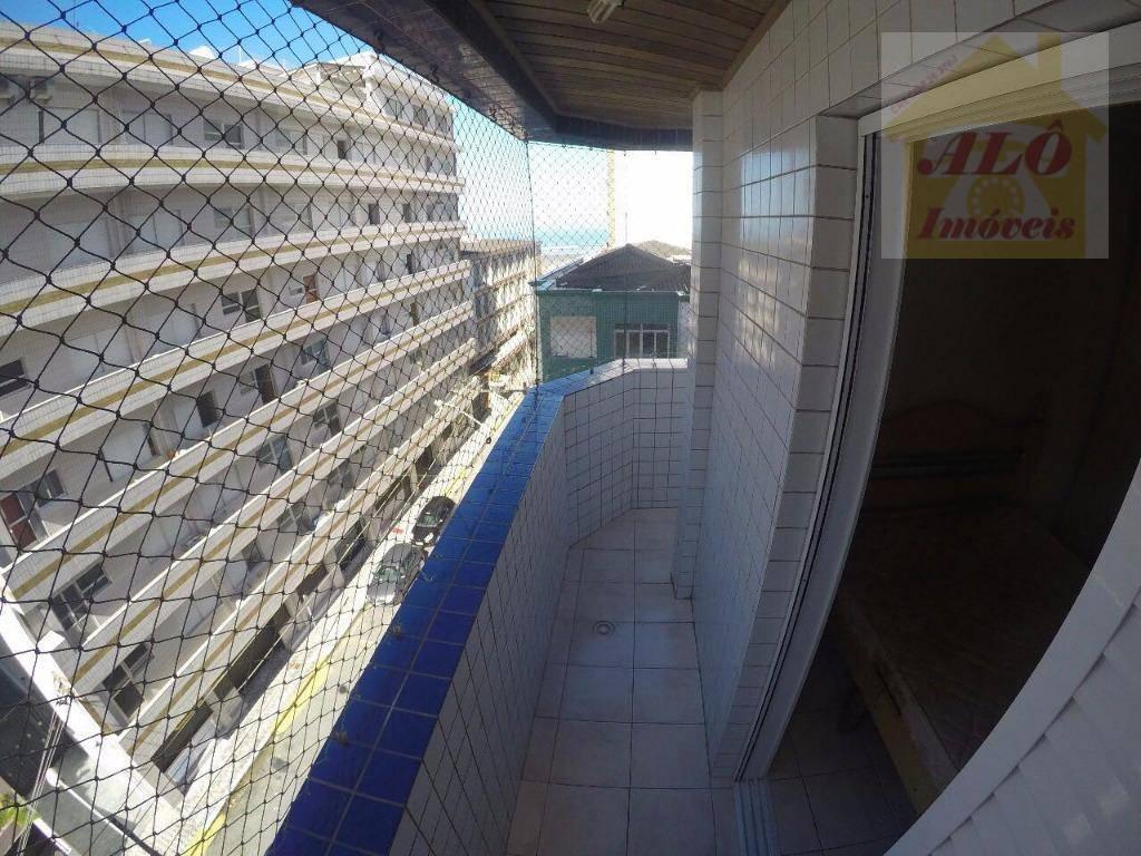 Apartamento com 2 dormitórios à venda, 92 m² por R$ 345.000 - Canto do Forte - Praia Grande/SP