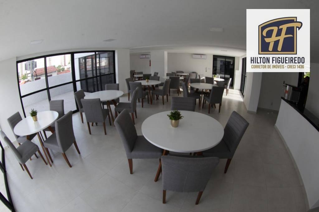 Apartamento com 3 dormitórios à venda, 73 m² por R$ 478.057 - Miramar - João Pessoa/PB