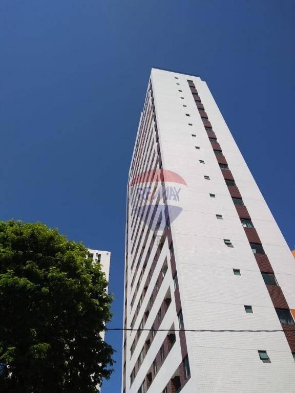 Flat com 1 dormitório para alugar, 31 m² por R$ 1.750,00/mês - Aflitos - Recife/PE