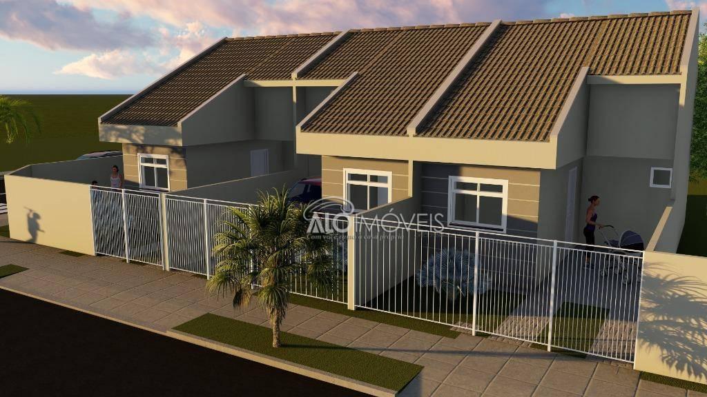 Casa com 2 dormitórios à venda, 38 m² por R$ 155.500 - Ganchinho - Curitiba/PR