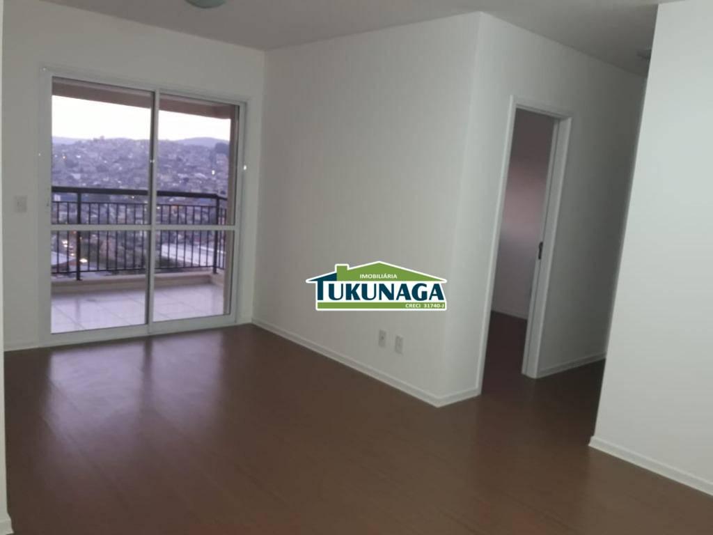 Apartamento com 2 dormitórios para alugar, 68 m² por R$ 1.500,00/mês - Jardim Flor da Montanha - Guarulhos/SP