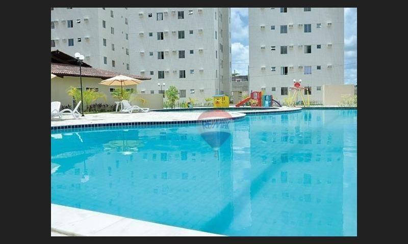 Alugo apartamento mobiliado com 3 quartos, em Paulista por R$ 1.280,00/incluso taxas com piscina, no  16º andar..