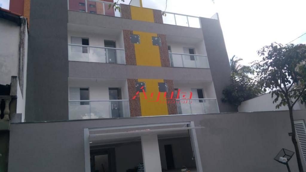 Cobertura com 2 dormitórios à venda, 46 m² por R$ 350.000 - Bairro Jardim - Santo André/SP