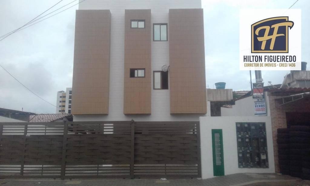 Apartamento com 2 dormitórios à venda, 41 m² por R$ 147.000 - Jardim Cidade Universitária - João Pessoa/PB