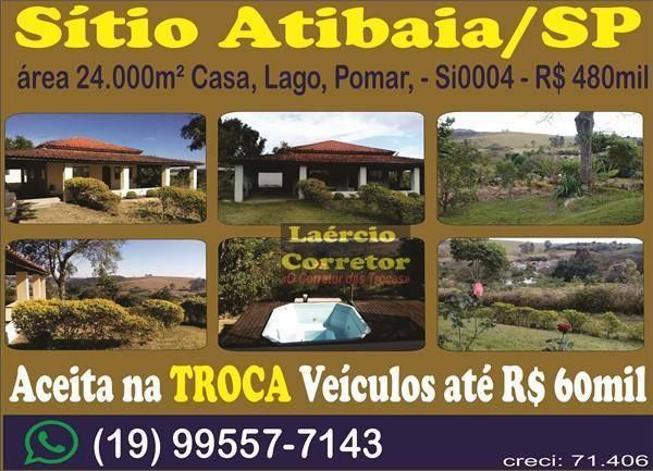 Venda de Sitio na Cidade de Atibaia
