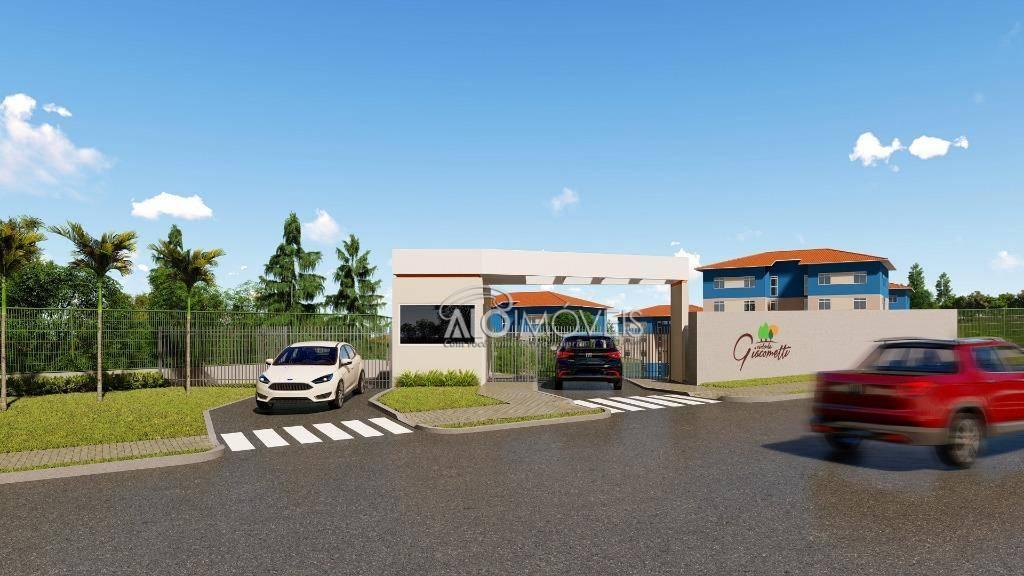 Imóveis na planta - Apartamento com 2 dormitórios à venda, 41 m² por R$ 124.500 - Tanguá - Almirante Tamandaré/PR